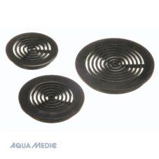 Round grate 63 mm black